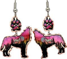 Wolf Alaska Multiple Earrings