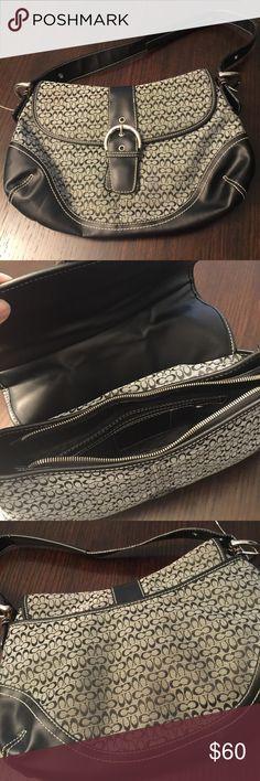 Coach handbag black Coach handbag great condition. Little wear on the backside Bags Shoulder Bags