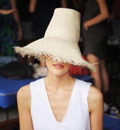 Straw Hat Trend for Spring Summer 2013.  WhitSpring Summer 2013.