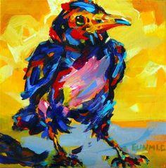 "Daily Paintworks - ""Crow"" - Original Fine Art for Sale - © Eunmi Conacher"