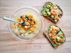 Vegan Cheesy Vegetable Toast   Plant Over Processed