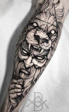 Mens Lion Tattoo, Leg Tattoo Men, Arm Tattoos For Guys, Arm Band Tattoo, Hand Tattoos, Sleeve Tattoos, Tattoo Sketches, Tattoo Drawings, Berserker Tattoo