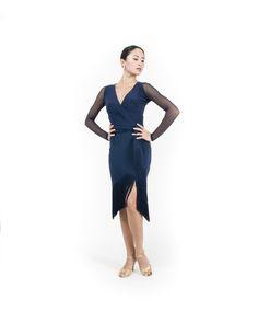 Carmen Fringe Dress in Navy