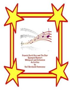 Happy  200th Birthday to The Star Spangled Banner! September 14, 2014, is the 200th anniversary of Francis Scott Key's writing of the poem which became our national anthem, The Star Spangled Banner. Use this web quest to learn about Francis Scott Key, the national anthem and the war of 1812.