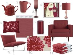 marsala. pantone's color of 2015. home decor. interior decor and design.