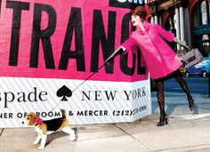 kate spade new york fall 11 campaign. i love the hot pink coat!