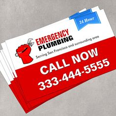 Customizable Plumber - Local Emergency Plumbing Services Business Card Templates