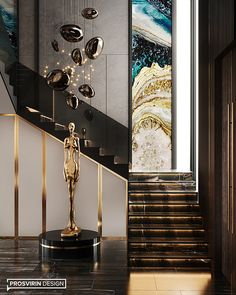 Modern interior design – Home Decor Interior Designs Staircase Interior Design, Home Stairs Design, Lobby Interior, Luxury Homes Interior, Modern House Design, Modern Interior Design, Interior Architecture, Luxury Apartments, Beautiful Stairs