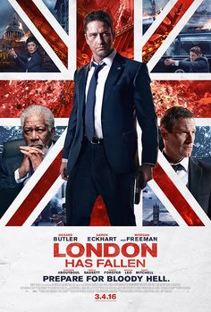 The new poster for London Has Fallen (out March 4) flags up the film's U.K. setting — as well as the starry nature of its cast, which includes Gerard Butler, Morgan Freeman, Aaron Eckhart, Angela Bassett, Robert Forster, Jackie Earle Haley, Melissa Leo, and Radha Mitchell.