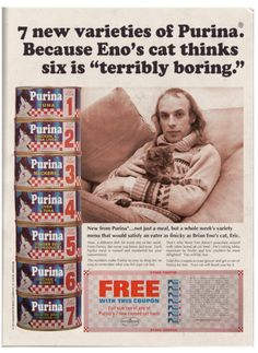 The hair! The sweater! The cat! The Brian Eno!
