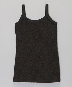 This Black Floral Lace Camisole - Girls is perfect! #zulilyfinds