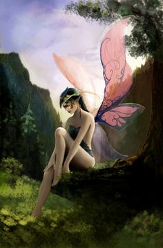 Thoughtful Faerie...#faerie #fairy #magic #enchantment #fantasy #art