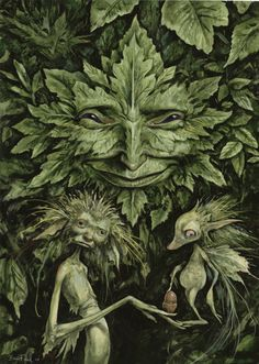 druidrytoday:   Green Man by Brian Froud