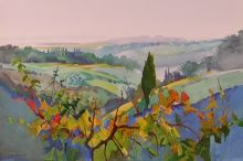 Italian Paintings: September 1 - December 2004 A few 2004 Italian Paintings by Stephen Quiller are still available for purchase, and they are listed first. Watercolor Landscape, Landscape Art, Landscape Paintings, Landscapes, Italian Paintings, Scenery Paintings, Natural Scenery, Abstract, Drawings