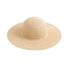 Airy summer straw hat from J Crew - perfect for travel because it flattens and folds for easy packing and features an extra-wide brim to keep you cool and protected.