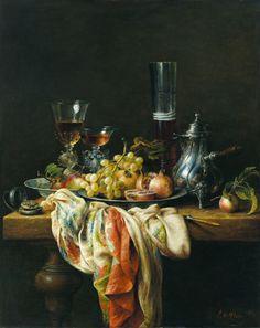 Stilleven met zilveren kan, Cornelius le Mair, oil on panel, 2006