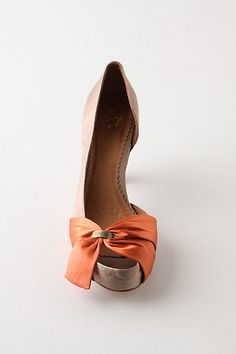 Orange Suede with Bow