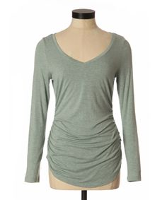 bootlegger.com : kismet nadia ruched long sleeve top in FROST