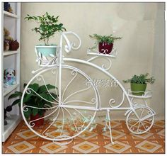 Planters, Wheels, Bike, Chair, Garden, Furniture, Home Decor, Workbench Stool, Bicycle