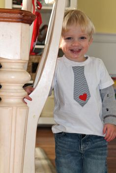 Chevron Tie Shirt, Feature on Valentine Fashion in Toddlers!