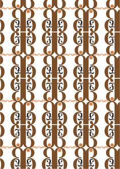 """New Caledonia Lt std, Willia A. Dwiggins,1938. Patterns 1 (colore):""""aspetto ornamentale moderno"""":£,~,·, ß di New Caledonia Semibold. Ho utilizzato dei colori molto sobri come il rosa antico,e varie tonalità di marrone perchè mi rappresentano e mi sembravano adatti alla caratteristica che volevo sottolineare."""