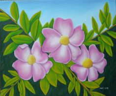 """Rosa mosqueta"" 61 x 54 cm óleo"