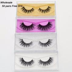 770ffd673c9 Free DHL 50 pairs Visofree Eyelashes Mink False Eyelashes Handmade Mink  Collection 3D Dramatic Lashes 33Styles