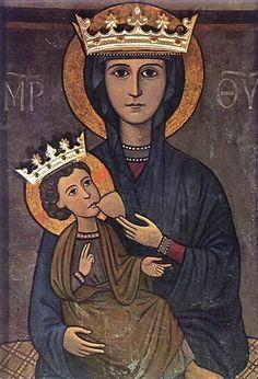 Anonimo -: Maria Santissima Incaldana - XIV secolo - Santuario di Mondragone (Caserta, Italia)