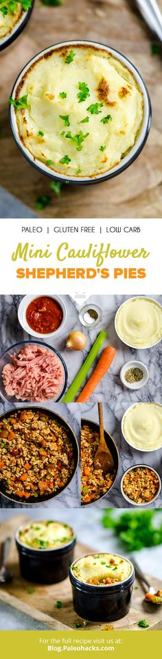 Shepherd's pie gets a healthy spin with ground turkey and mashed #cauliflower for pure comfort food without the guilt. get the full recipe here: http://paleo.co/caulishepherdspie