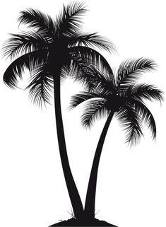 Vectores libres de derechos: palm trees