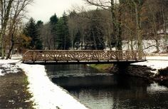 'The Roxbury'  (48' long x 6' wide)  - One of six bridges that we built the railings for at Kirkside Park in Roxbury, NY.