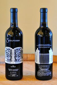 Beautiful bottles, incredible wines!  Sculpterra, Paso Robles, CA