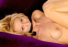 Picture 1 of the blonde rope gagged whore (her name pls)
