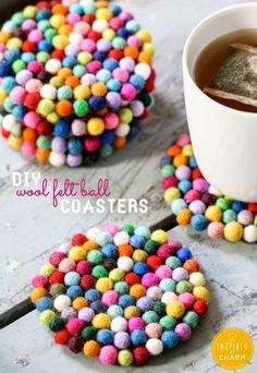 DIY Wool Felt Ball Coastets