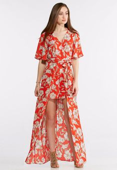 04df43f7017 Floral Walk-Thru Maxi Dress Junior Misses Cato Fashions  catoconfident  maxidress  Junior