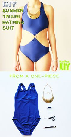 4 DIY Ways To Transform Your Boring Old Bathing Suit