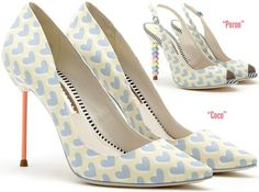 ♥'s  Sophia Webster heart printed Coco pumps Spring 2014 Peron slingback
