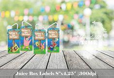 Spongebob Juice Box Labels Spongebob Juice Box Wraps
