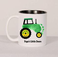 Tractor Footprint  Mug Baby Toddler Great Gift for Dad