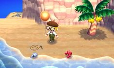 Drawing in the Sand - Animal Crossing New Leaf QR Code