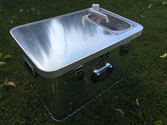 "Campingbox ""Starter 4x4"" - campingmoebel-4x4s Webseite! Truck Cap Camper, Diy Camper Trailer, Truck Caps, Truck Camping, Tent Camping, Aluminium Box, 4x4, Portable Tent, Camper Van Conversion Diy"