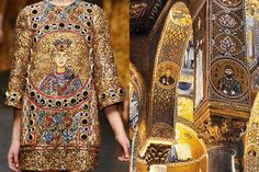 Match #181 Dolce & Gabbana Fall 2014| Interiors of the Duomo di Monreale in Sicily, Italy More matches here