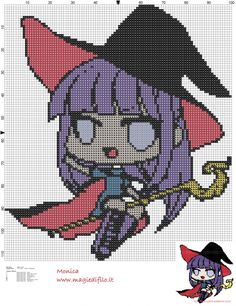 Sweet little witch cross stitch pattern (click to view)
