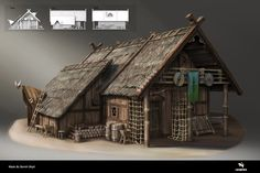 ArtStation - Viking House 02 / Concept Art, Leartes Studios