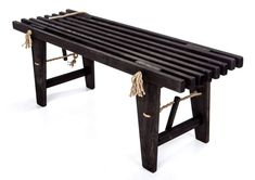 Ecofurn Bench Garden Bench made from pine, Colour Black Entryway Bench, Dining Bench, Kiefer, Nordic Design, Picnic Table, Outdoor Furniture, Outdoor Decor, Patio, The Originals