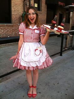 Gallery For > Diner Waitress Costume