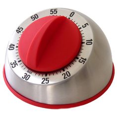 Tracey Kitchen Timer in Red // retro-industrial #productdesign
