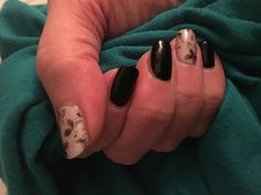 Jamberry Timless wrap paired with Raven nail lacquer topped with Trushine gel top coat.