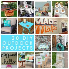 20 DIY Outdoor Projects! So many great ideas to do this Spring and Summer! -- Tatertots and Jello