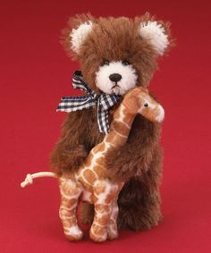 Brown Mini Mohair Bear Plush Figurine by Boyds ~ especially cute for a nursery! today $9.49 Reg. $25.00 deck-the-halls figurine sale 65% OFF ~ more Boyds